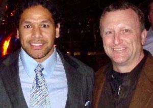 Jim Wexell with Troy Polamalu